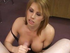 Busty slut in stockings banged