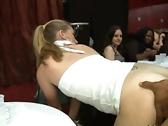 Drunk girls fucking party orgy