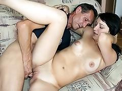 Skinny whore masturbate