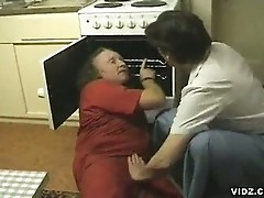 Scorching granny needs nasty dick seduces clueless mechanic