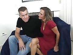 MILF takes on three cocks