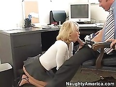 Blonde In Glasses Fucked In The Office