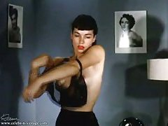 Betty Page undressing