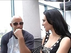 Brunet Victoria Sin looks for adventures in cafe