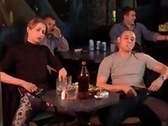 Too many strong drinks lead to hot sex orgy in bar