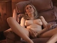 Tina masturbating on her lazy chair
