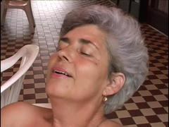 Gran slut rides a hard dick and gets a toy of cum deep inside her pussy