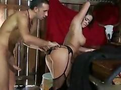 Savannah Stern treats a cowboy with pussy juice