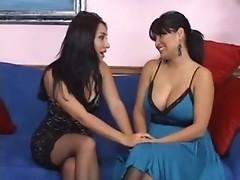 Cock is shared between Roxy Jezel and Sophia Lomeli