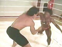 Danni Ashe wrestling.