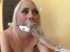 Rough blondes enjoys bdsm fucking games