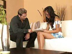 Asian slut shows sex skills at the casting