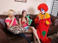 Hailey Young gets a clown with a big cock for her eighteenth birthday