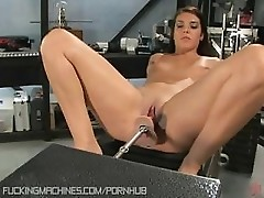 SoCal hottie, Claire, fucks machine dicks bigger than she thought she could