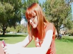 Cute redhead gets big cock