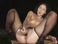 nylon stockings dildo toying music compilation ST69