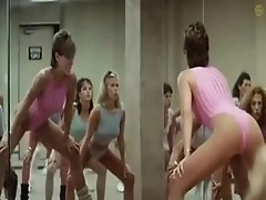 Sexy fit girls & Jamie Lee Curtis at aerobics