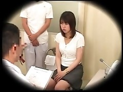 Spying on Asian schoolgirl fucked by gynecologist