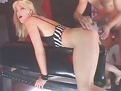 Hot Bdsm With A Tied Up Blonde