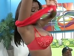 Candice Nicole &  Ms. Platinum taste ebony hunk