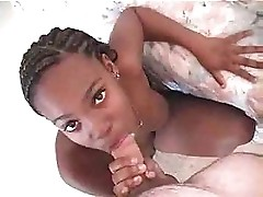 White cock with young black girl
