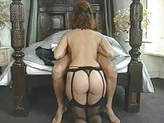 Classic Natural Big Breasted Woman enjoying her Man