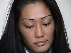 Tiny Asian anus is stretched by a prick to gape