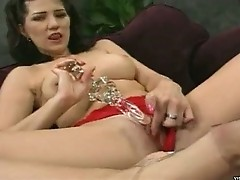 Pretty babe shaves thoroughly pussy and ass