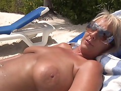 Naughty Alysha breaks her sunbathing to fuck