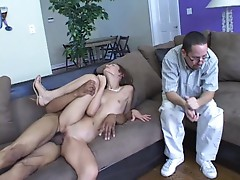 Amber Rayne loves to be being fucked while her man watches her