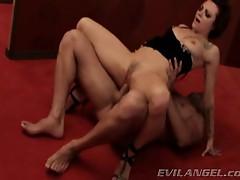 Vivacious Belladonna bounces her slot on this hard dick