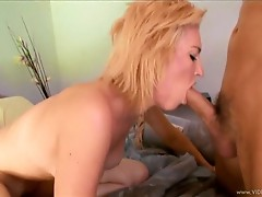 Victoria White throat fucks this hard throbbing cock