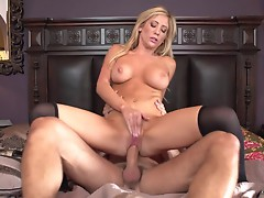 Horny Tasha Reign bounces her pussy on this hard dick