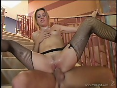 Holly Hollywood bounces her pussy on this hard dick