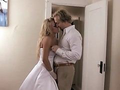 Newly married slut Brooke Belle gets her tight pussy plowed with dick