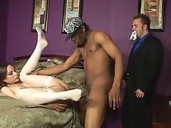 Newly married Amber Rayne is already sharing her pussy with other men
