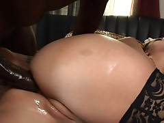 Kaylynn is rear ended by a big black cock