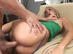 Holly West gets her pussy stuffed with hard cock