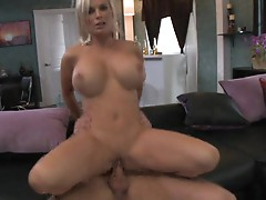 The wet and horny twat of Diamond Foxxx takes on a fat pussy smashing cock