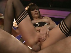 Dana DeArmond loves to eat dick after it has been inside of her ass