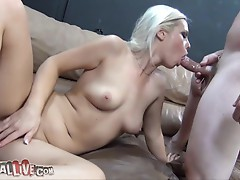 Tara Lynn Foxx takes a huge LOAD in her MOUTH!