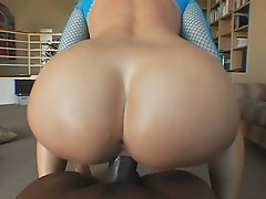 Anastasia Christ shows off her fat ass while handling some black dick