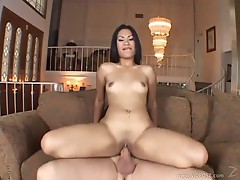 Kyanna Lee bounces her moist pussy on this hard dick