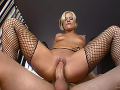 Jasmine Jolie bounces her moist pussy on this hard dick
