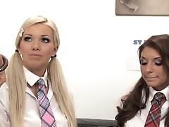 School detention gets dirty for lezzie lover Linsey Dawn Mckenzie
