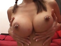 Lisa Marie does wonders when her breasts are out for all to see