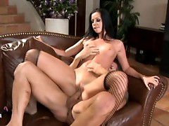 Larissa Dee is having a great time being fucked by this little meat