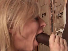 Hot whore Nina Hartley gets her tight cunt stretched by black cock