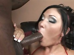 Claire dames eats the dick so it is ready to pummel her hard and fast