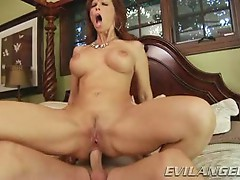 Syren Demer bounces her tight ass on this hard dick